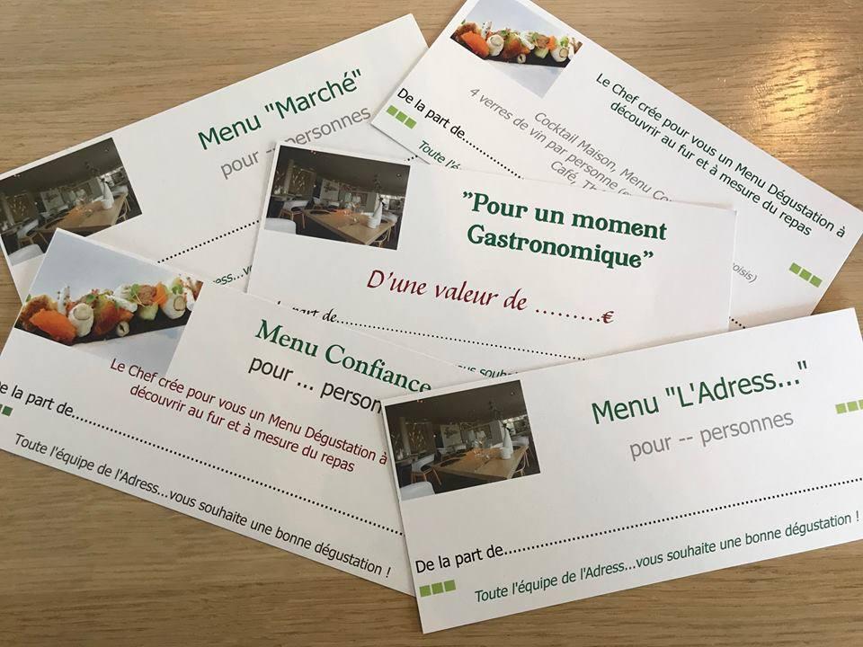 Les bons cadeaux du Restaurant l'Adress à Niort